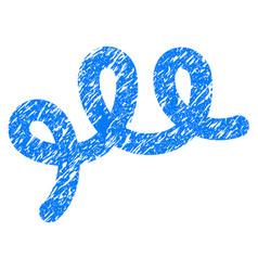 Spiral bacillus grunge icon vector