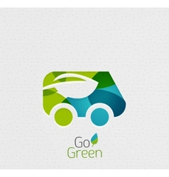 Eco car abstract shape design vector