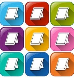 Buttons with empty picture frames vector