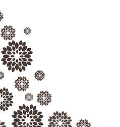 Flower black background vector
