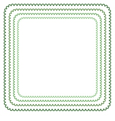 Frame in shades of green vector