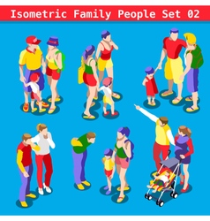 Family set 02 people isometric vector