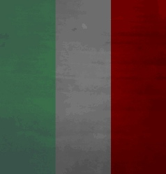 Grunge messy flag italy vector