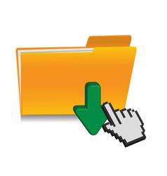 download folder icon vector image
