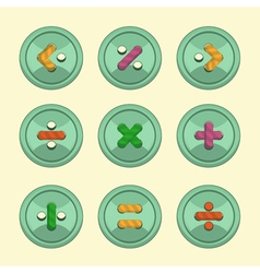 Buttons math vector