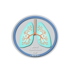 World tuberculosis day - march 24 lungs baner vector