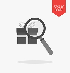 Finding gift icon flat design gray color symbol vector