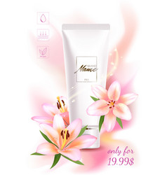 advertising poster for cosmetic product with vector image
