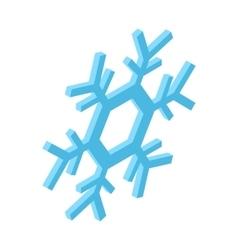 Blue snowflake isometric icon vector