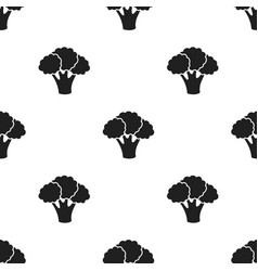 Broccoli icon black singe vegetables icon from vector