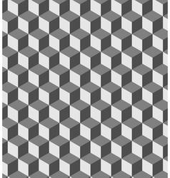 Cube seamless pattern vector