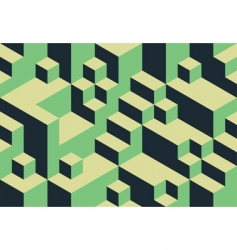 cubic background vector image vector image