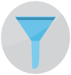 Filter funnel icon vector image