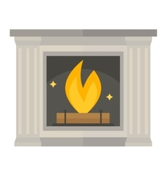 fireplace isolated on white vector image