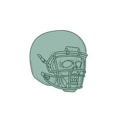 Football quarterback skull drawing vector