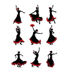 Girl dancing flamenco vector