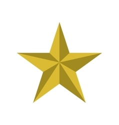 gold star icon Decoration design graphic vector image vector image