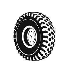 heavy duty truck wheel rim front and rear vector image vector image