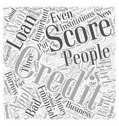 How to raise your credit score word cloud concept vector