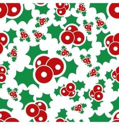 Mistletoe seamless pattern vector