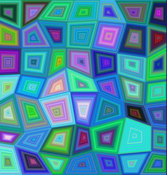 Multicolor rectangle tile mosaic background vector image vector image