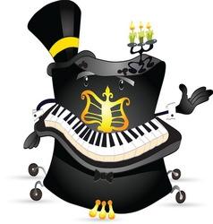 piano 2 vector image