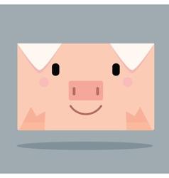 Pig letter vector