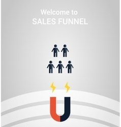 Sales funnel concept vector