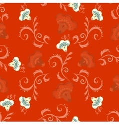 Seamless indian style pattern with oriental vector
