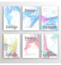 Set of Flyer Brochure Design Templates Geometric vector image vector image