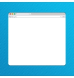 Simple web browser window vector image vector image