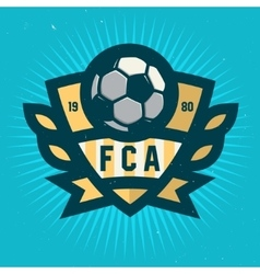 Soccer Emblem Design Football Badge Template vector image vector image