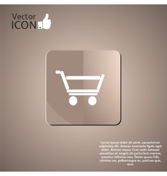 Supermarket trolley button vector image