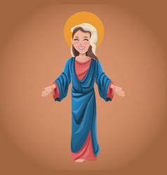 Virgin mary spiritual prayer vector