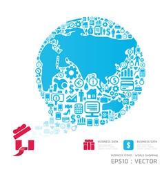 world shopping icon vector image