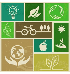 ecology signs and icons vector image
