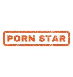 Porn star rubber stamp vector