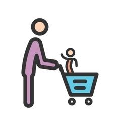Father  son shopping vector