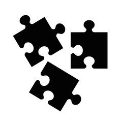 black puzzle icon vector image
