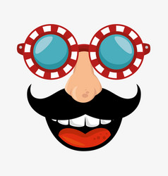 Idiot mask crazy icon vector