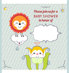Baby shower invitation card editable template vector