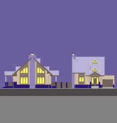 Residential house v vector