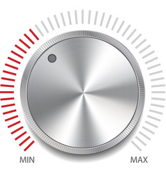 Volume button knob vector