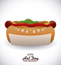 Hot dog design vector