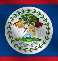 Belize flag vector
