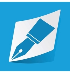 Ink pen nib sticker vector