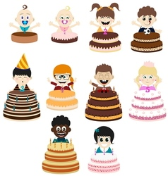 Birthday party kids vector