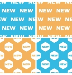 New pattern set colored vector
