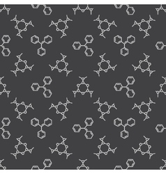 Chemistry dark pattern vector