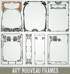 Decorative art nouveau frames vector